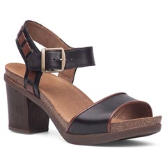 Dansko Debby Full Grain Leather Black Sandals