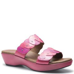 Dansko Dee Leather Fuchsia/Orchid Sandals