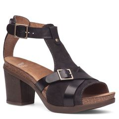 Dansko Dominique Leather Black Sandals