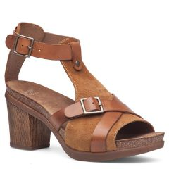 Dansko Dominique Leather Camel Sandals