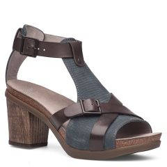 Dansko Dominique Leather Grey Sandals