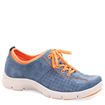 ELISE SUEDE BLUE/ORANGE