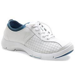 Dansko Elise Leather White/Blue