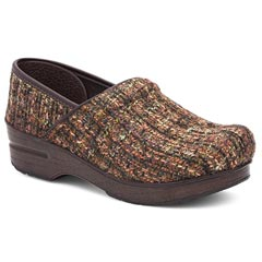 Dansko Fabric Pro Brown Multi Clogs