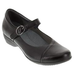 Dansko Fawna Milled Leather Black Shoes