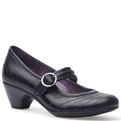 Dansko Fernanda Antique Calf Leather Black Shoes