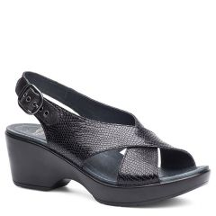 Dansko Jacinda Leather Black Sandals