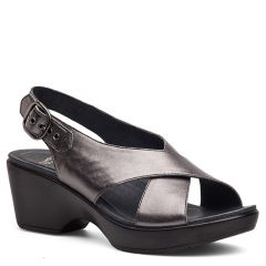 Dansko Jacinda Leather Pewter Sandals