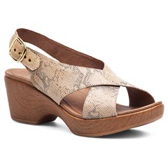 Dansko Jacinda Leather Taupe Sandals