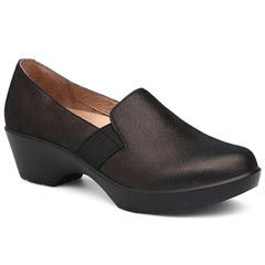 Dansko Jessica Suede Black Metallic Shoes