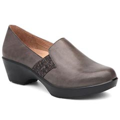 Dansko Jessica Grey Nappa Leather Grey Shoes