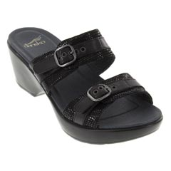 Dansko Jessie Leather Black Sandals