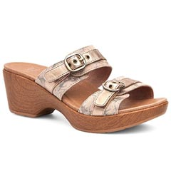Dansko Jessie Leather Taupe Sandals