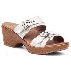 Dansko Jessie Leather White Sandals