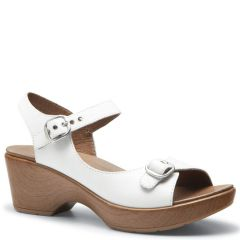 Dansko Joanie Leather White Sandals