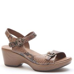 Dansko Joanie Leather Brown Sandals