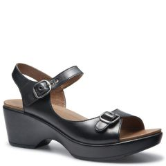 Dansko Joanie Leather Black Sandals