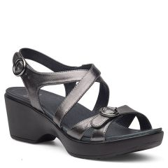 Dansko Julie Leather Pewter Sandals