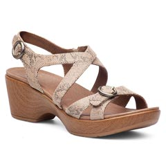 Dansko Julie Leather Taupe Sandals