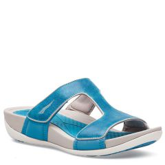 Dansko Kendall Washed Leather Blue Sandals