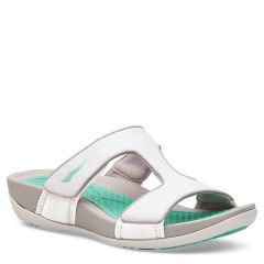 Dansko Kendall Smooth Leather White Sandals
