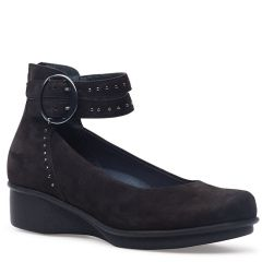 Dansko Lois Nubuck Black Shoes