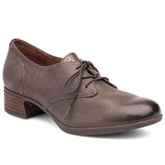 Dansko Louise Nappa Leather Stone Shoes