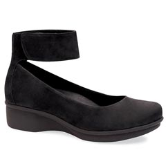Dansko Lulu Nubuck Black Shoes