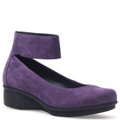 Dansko Lulu Nubuck Plum Shoes