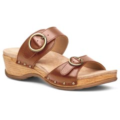 Dansko Manda Washed Leather Camel Sandals
