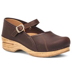 Dansko Marcelle Leather Brown Clogs