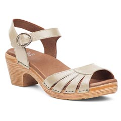 Dansko Marlow Leather Oyster Sandals