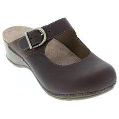 Dansko Martina Oiled Leather Antique Brown Clogs