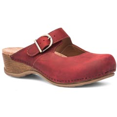 Dansko Martina Oiled Leather Red Clogs