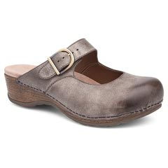 Dansko Martina Distressed Leather Stone Clogs
