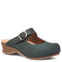 Dansko Martina Oiled Leather Teal Clogs