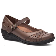 Dansko Mathilda Veg Tan Leather Dark Taupe Shoes