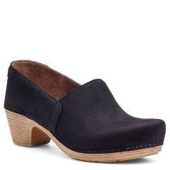 Dansko Mavis Milled Nubuck Black Clogs