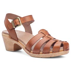 Dansko Milly Full Grain Leather Camel Sandals