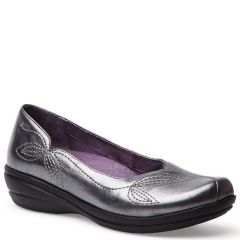 MINDY NAPPA LEATHER Pewter Metallic