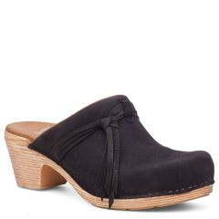 Dansko Miriam Milled Nubuck Black Clogs