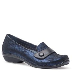 OLENA SUEDE blue metallic
