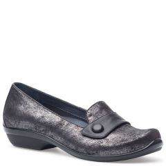 OLENA SUEDE Pewter Metallic