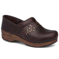 Dansko Patricia Oiled Leather Antique Brown Clogs