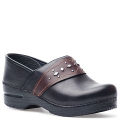 Dansko Pavan Leather Black Clogs