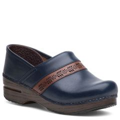 Dansko Penny Full Grain Leather Navy Clogs