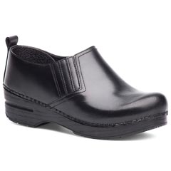 Dansko Piet Cabrio Leather Black Clogs