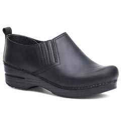 Dansko Piet Oiled Leather Black Clogs