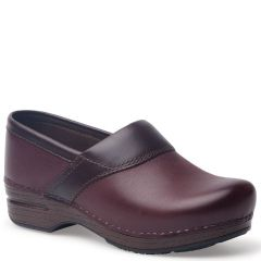 Dansko Poppy Burnished Nubuck Bordeaux Clogs