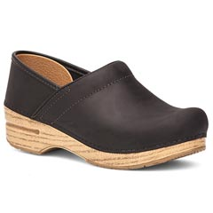 Dansko Professional Oiled Leather Black Clogs